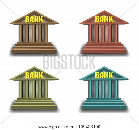 Bank building set