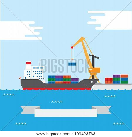 Cargo transportation ship