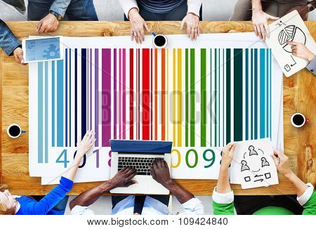 Barcode Product Price Scanning Sell Buy Store Shopping Promotion Concept