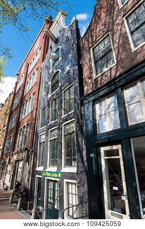 AMSTERDAMNETHERLANDS-APRIL 27: Tipical Amsterdam architecture and appartments on April 27 2015 in Amsterdam Netherlands.