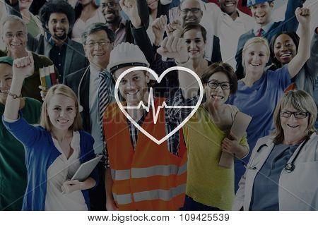 Heartbeat Healthcare Life Health Cardiogram Concept