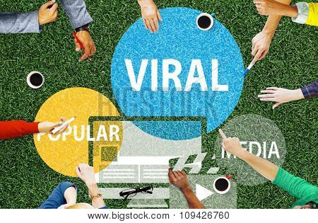 Viral Global Communications Internet Technology Concept