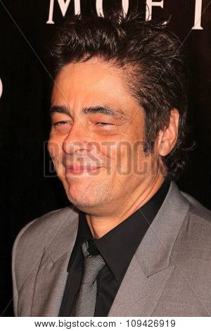 LOS ANGELES - AUG 13:  Benicio Del Toro at the HFPA Hosts Annual Grants Banquet - Arrivals at the Beverly Wilshire Hotel on August 13, 2015 in Beverly Hills, CA