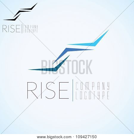 Abstract Stairs, Logo Concept Template For Start Up, Flight Company, Air Shipping, Airlines Logotype