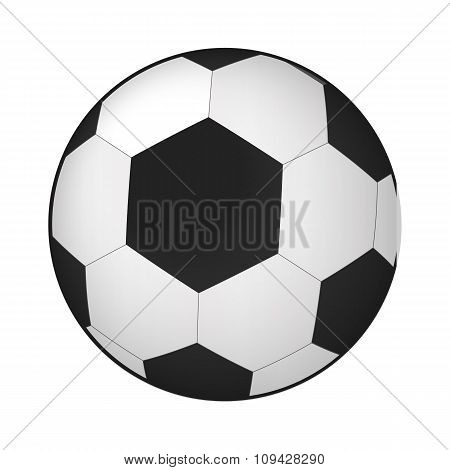 Soccer ball isometric 3d icon