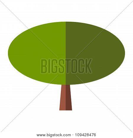 Tree flat sign
