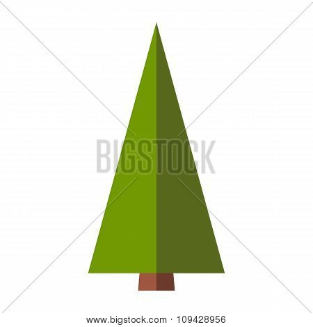 Fir-tree flat sign