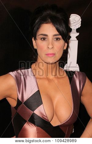 LOS ANGELES - AUG 13:  Sarah Silverman at the HFPA Hosts Annual Grants Banquet - Arrivals at the Beverly Wilshire Hotel on August 13, 2015 in Beverly Hills, CA