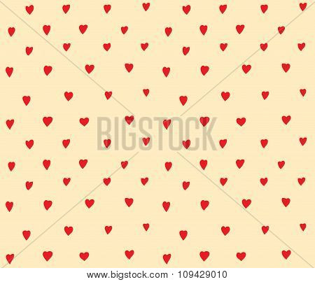 Hearts dots seamless pattern simple decoration