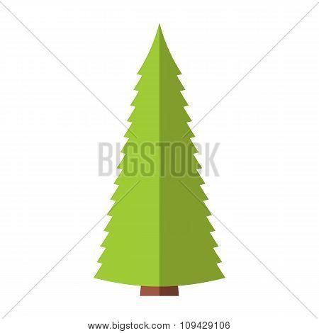 Fir-tree flat symbol