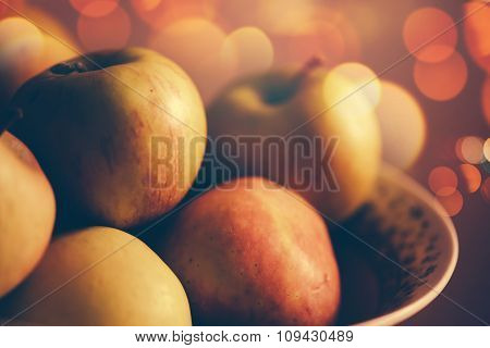 Apples In A Bowl, Retro Toned