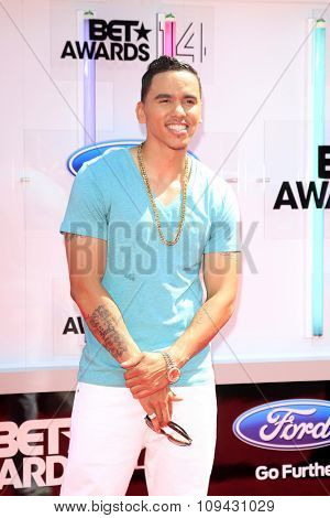 LOS ANGELES - JUN 29:  Adrian Marcel at the 2014 BET Awards - Arrivals at the Nokia Theater at LA Live on June 29, 2014 in Los Angeles, CA