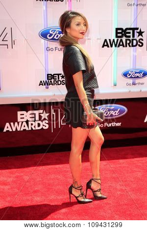 LOS ANGELES - JUN 29:  Jeannie Mai at the 2014 BET Awards - Arrivals at the Nokia Theater at LA Live on June 29, 2014 in Los Angeles, CA