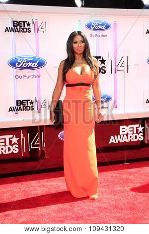 LOS ANGELES - JUN 29:  Kenya Moore at the 2014 BET Awards - Arrivals at the Nokia Theater at LA Live on June 29, 2014 in Los Angeles, CA