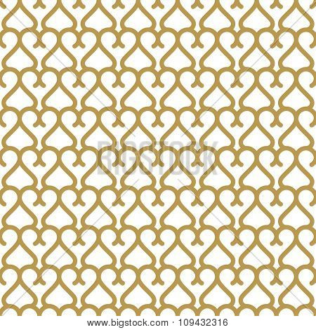Seamless background in Arabic style. Gold  wallpaper with patterns for design. Traditional oriental decor