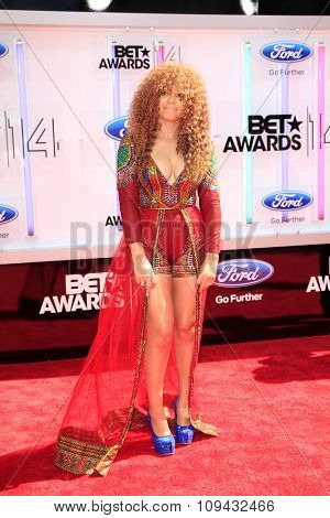 LOS ANGELES - JUN 29:  Nadia Buari at the 2014 BET Awards - Arrivals at the Nokia Theater at LA Live on June 29, 2014 in Los Angeles, CA