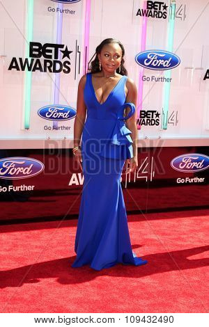 LOS ANGELES - JUN 29:  Naturi Naughton at the 2014 BET Awards - Arrivals at the Nokia Theater at LA Live on June 29, 2014 in Los Angeles, CA