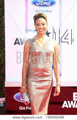 LOS ANGELES - JUN 29:  MC Lyte at the 2014 BET Awards - Arrivals at the Nokia Theater at LA Live on June 29, 2014 in Los Angeles, CA