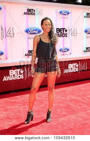 LOS ANGELES - JUN 29:  Stephanie Charles at the 2014 BET Awards - Arrivals at the Nokia Theater at LA Live on June 29, 2014 in Los Angeles, CA