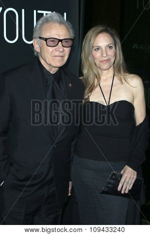 LOS ANGELES - NOV 17:  Harvey Keitel, Daphna Kastner at the