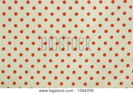 Red And White Polka Dot Background