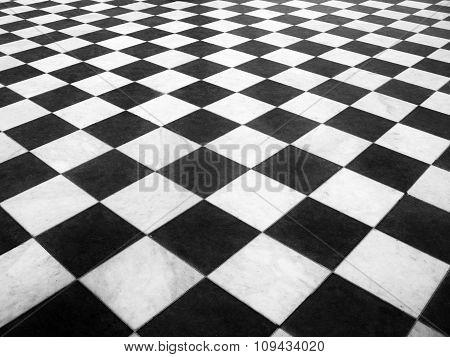 Chess marble floor