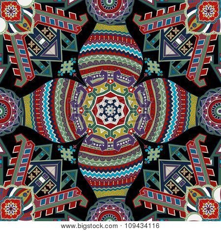 Geometrical seamless pattern. Ethnic wallpaper