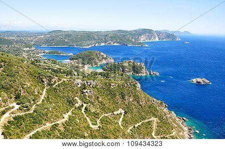 landscape on the island of Corfu, Greece, Europe