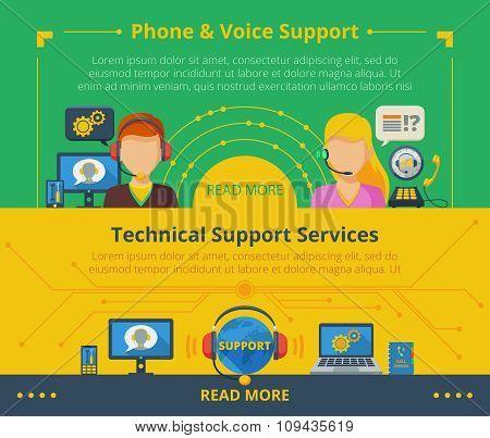 Customer support banner