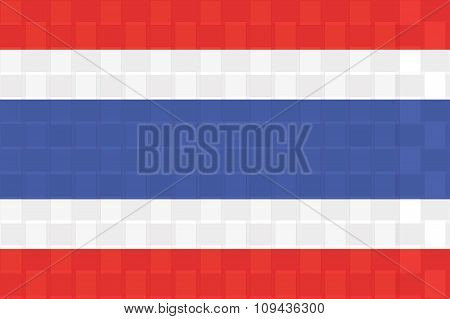 Thailnd Flag Standard Size Ratio And Color Mode Red Green Blue  Vector Illustration