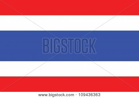 Thailand Flag Standard Size Raito And Color Mode Red Green Blue