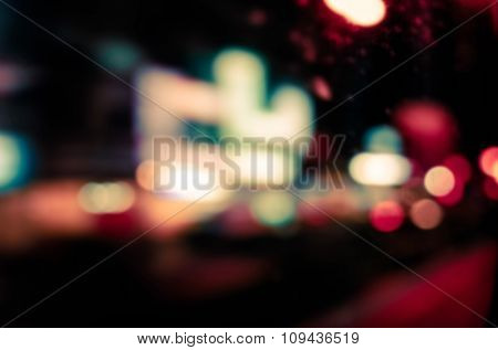 abstract background with bokeh defocused lights and shadow