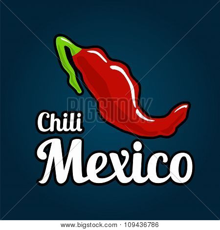 Map of the country of Mexico as chili peppers.