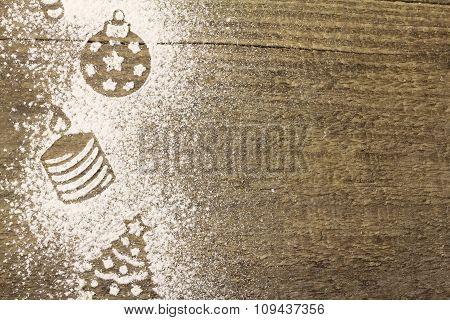 Stencil Christmas Decorations