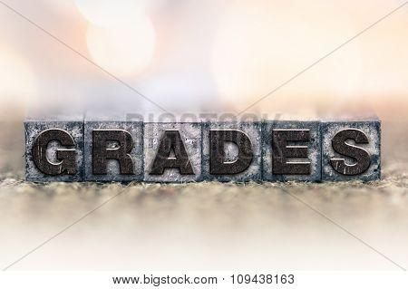 Grades Concept Vintage Letterpress Type