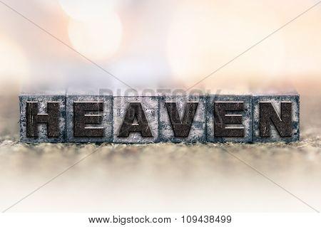 Heaven Concept Vintage Letterpress Type