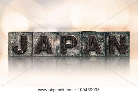 Japan Concept Vintage Letterpress Type