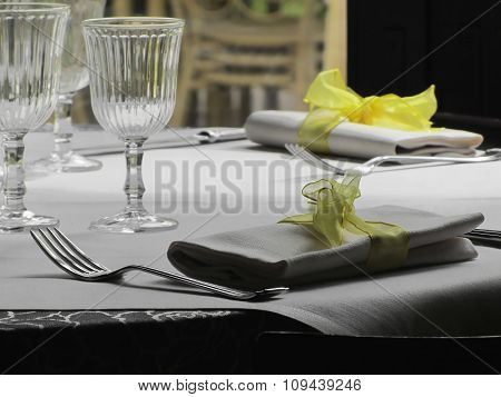 Table Setting For Christmas Or Other Event