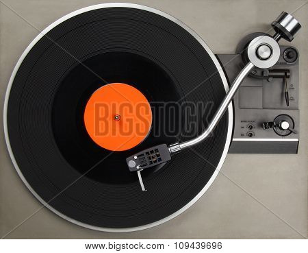 Record Player With Phonorecord