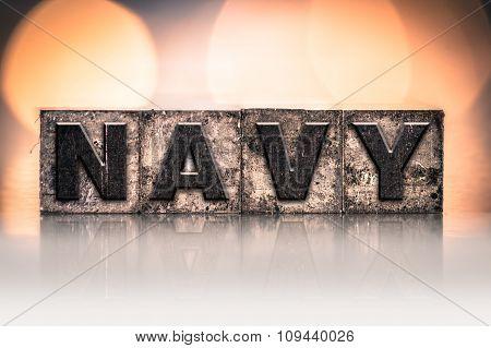 Navy Concept Vintage Letterpress Type