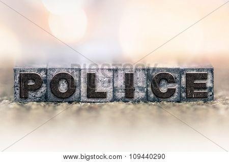 Police Concept Vintage Letterpress Type