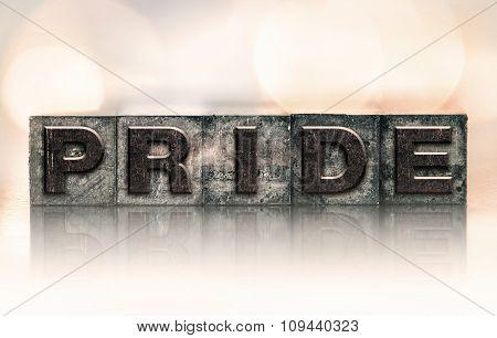 Pride Concept Vintage Letterpress Type