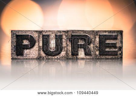 Pure Concept Vintage Letterpress Type