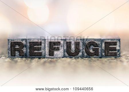 Refuge Concept Vintage Letterpress Type