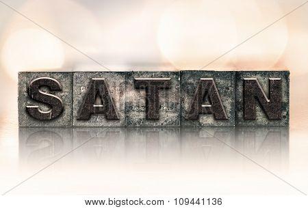 Satan Concept Vintage Letterpress Type