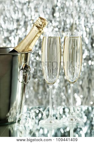 Glasses of champagne