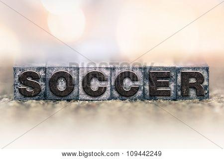 Soccer Concept Vintage Letterpress Type