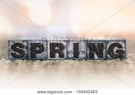 Spring Concept Vintage Letterpress Type