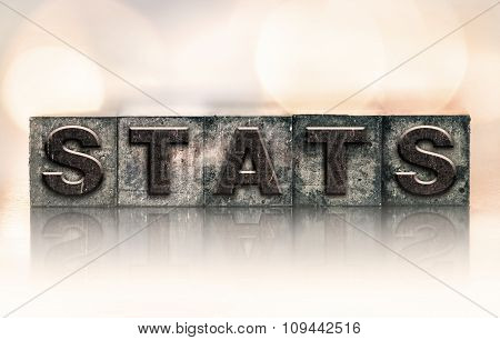 Stats Concept Vintage Letterpress Type