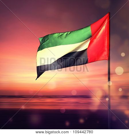 Beautiful UAE national Day greeting card cover. A stock image.